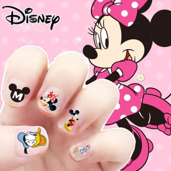 Frozen elsa and Anna  Makeup Toy Nail Stickers Toy Disney snow White Princess Sophia Mickey Minnie girls sticker for kids gift 1