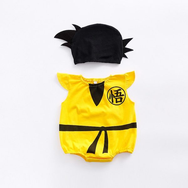 1pc romper 1pc Hat Newborn Baby Cotton rompers suits baby boys'  clothing Dragon Ball Spiderman Hero outifts Summer jumpsuits 4