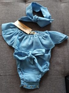 Cute Baby Girls Front Bodysuit photo review
