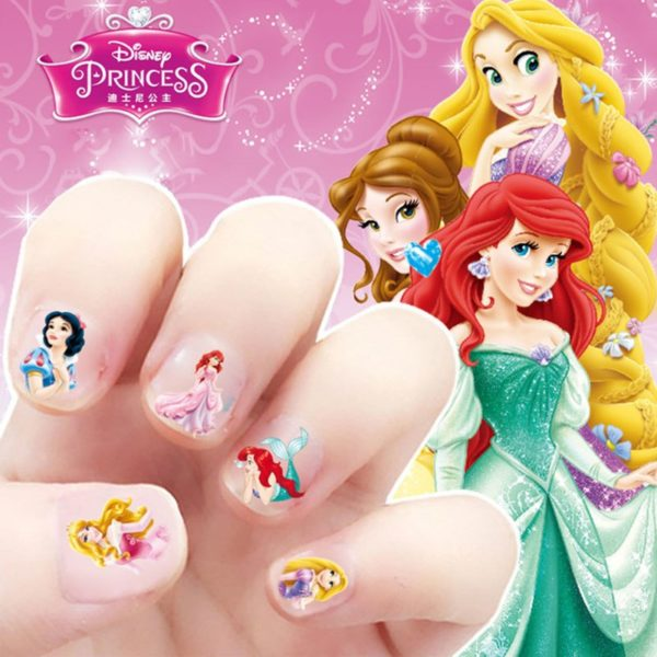 Frozen elsa and Anna  Makeup Toy Nail Stickers Toy Disney snow White Princess Sophia Mickey Minnie girls sticker for kids gift 3