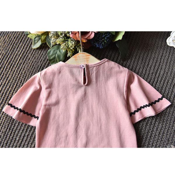 LOVE DD&MM Girls Sets 2019 Summer New Clothing Girls Fashion Hollow V-Neck Short-Sleeved T-Shirt + Denim Skirt Baby Suit