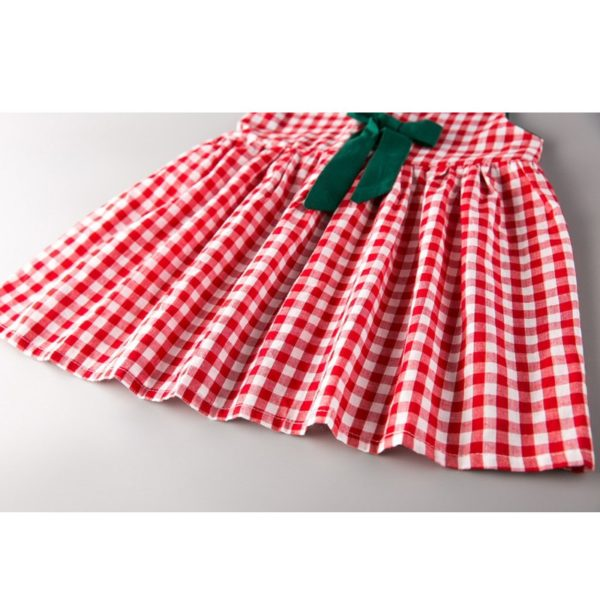 LOVE DD&MM Girls Clothing Dresses 2019 New Girl Clothes Fashion Sweet Plaid Bow Vest Dress For Girl 2