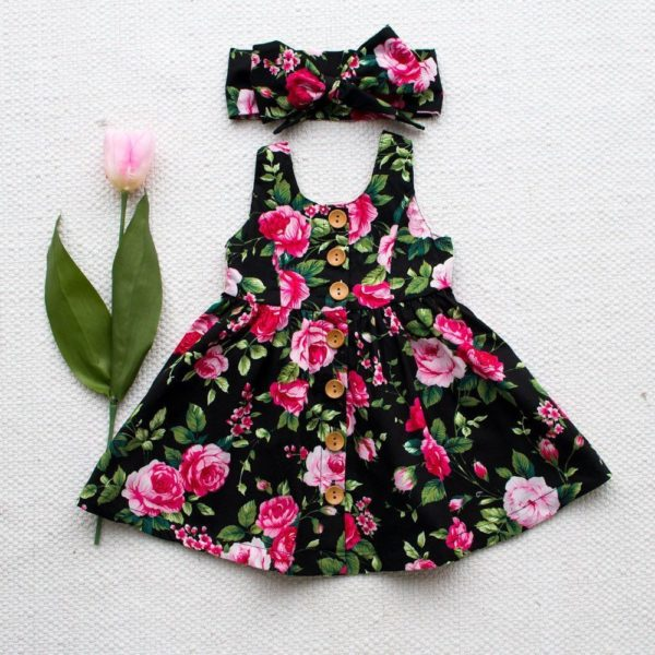 2019 Girls Dress Floral Dress