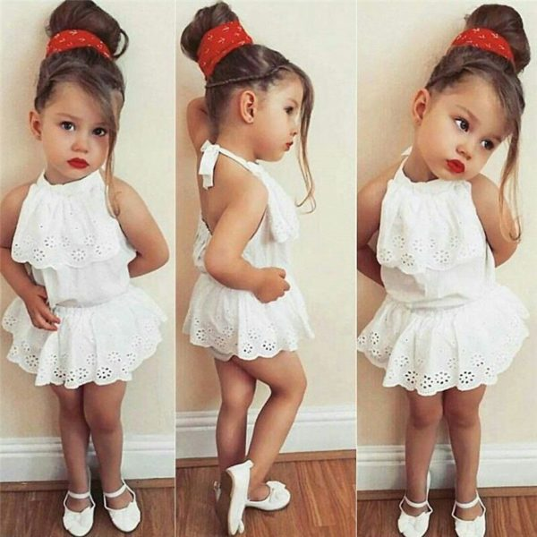 Cute Newborn Kids Baby Girl Infant Lace Romper Dress Jumpsuit Playsuit Clothes Outfits 1