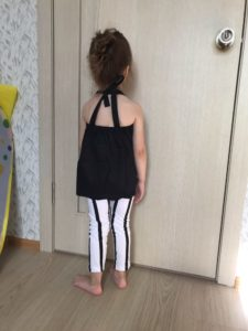 Cute Girls Summer Strap Tops & Striped Pants Leggings photo review