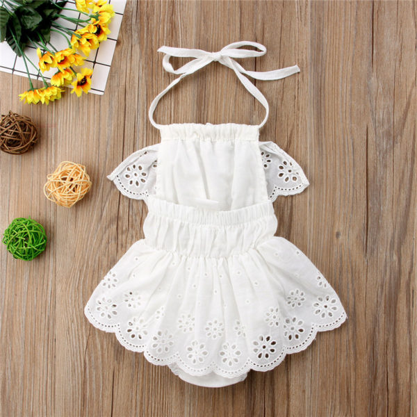 Cute Newborn Kids Baby Girl Infant Lace Romper Dress Jumpsuit Playsuit Clothes Outfits 2
