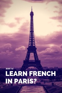 want to learn french in paris