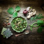 Sri Lankan recipe for green bean curry and spiced coconut curry