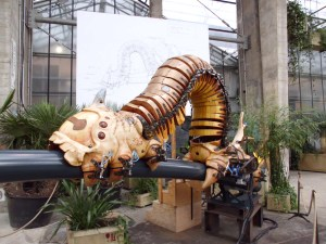 The Machines Have Taken Over: Where once they built ships, now they build giant mechanical elephants and... centipedes.