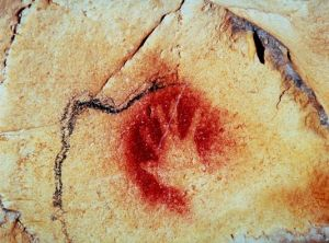The Hand of History: A prehistoric stencilled image in the Chauvet Pont d'Arc Cave.