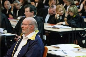 Awaiting the Breast Man's Speech: Jean-Claude Mas listens to evidence in Marseilles yesterday