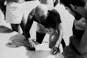 Maestro and Son: Claude aged 2, sketching with his father in 1950