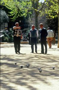 Douce France: Locals playing boules under the shade of plane trees