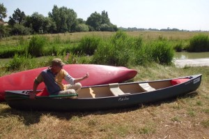 Give it some gusto: Route du Sel Scottish employee shows how a man paddles a canoe