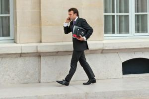 Young man in hurry: a free-market advocate and a man who measures his words... perfect for the current job in finance in France