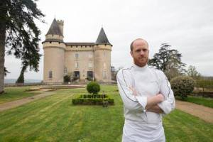 "Julian Poisot on the terrace of the Château de Mercuès: ""I wanted... to see if I could create a beautiful cuisine in a beautiful establishment such as this one."""