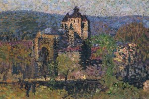 Impressionist View: Artist Henri Martin's painting of Cahors Cathedral