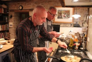 """If we were running a restaurant, we'd have to be open all the time..."" Instruction in the kitchen was the optimum life-work balance for Niall and Poul."