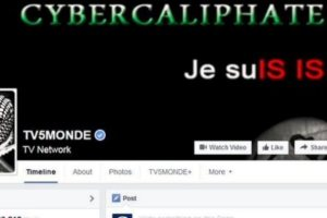 I am ISIS? A screen grab of the TV5 Monde Facebook page during the attack