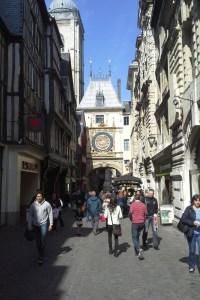 The Rue du Gros Horloge, Rouen