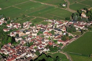 Pretty town, tasty pastries: An aerial view of Santenay
