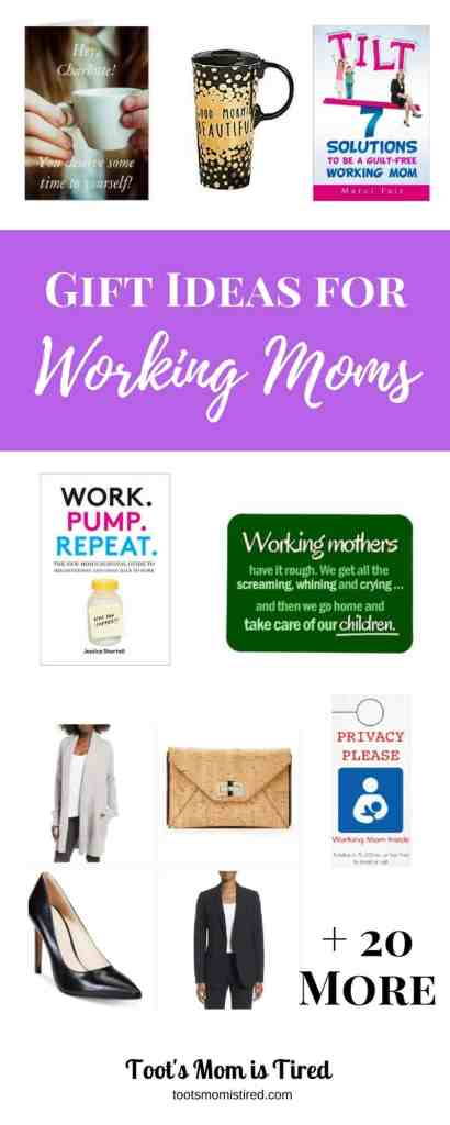 Gift Ideas for Working Moms | What should you get your working mom friend? Here's a list of great gift ideas including organizational planners, working mom fashion, coffee mugs, books, and customizable cards.