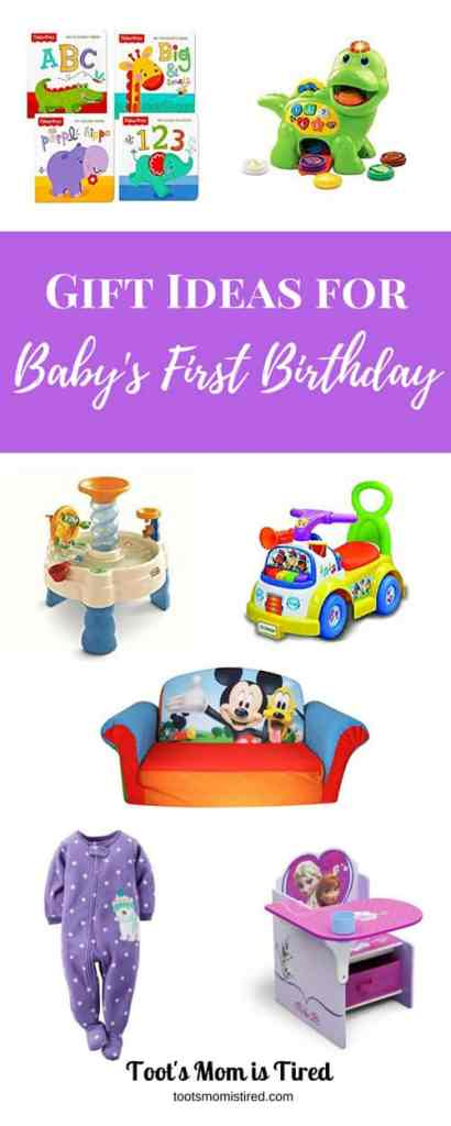 Gift Ideas for Baby's First Birthday   What do you get a one year old for their first birthday? Here are some great gift ideas for new toddlers!
