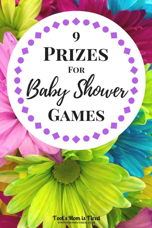 Homemade baby shower game prizes