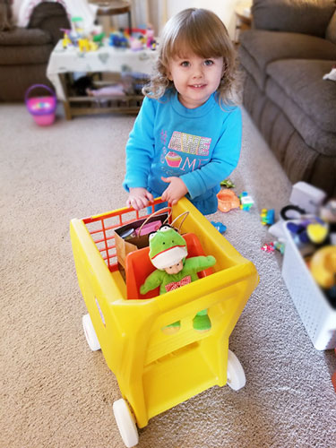 grocery cart pretend play