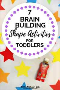 7 Brain Building Shape Activities for Toddlers | #AD Enfagrow Toddler Next Step | toddler activities, STEM activities for toddlers, encourage brain growth, two years old, one year old, three years old, 18 months old, teach your toddler shapes, parenting tips, DHA, motherhood
