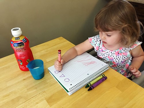Drawing shapes with Enfagrow Toddler