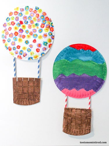 hot air balloon craft completed