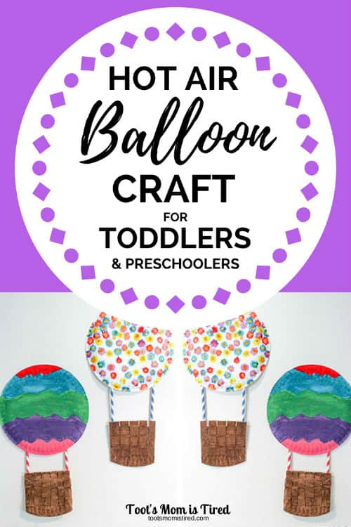 Hot Air Balloon Craft for Toddlers and Preschoolers | paper plate crafts for toddlers, what can you make with paper plates, balloons, craft ideas for toddler birthday parties, preschool art projects, activities for two year olds and three year olds, #crafts #paperplatecrafts #toddlercrafts #preschool #preschoolcrafts