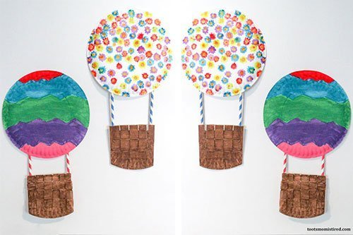 Paper Plate Hot Air Balloon Craft for Toddlers & Preschoolers