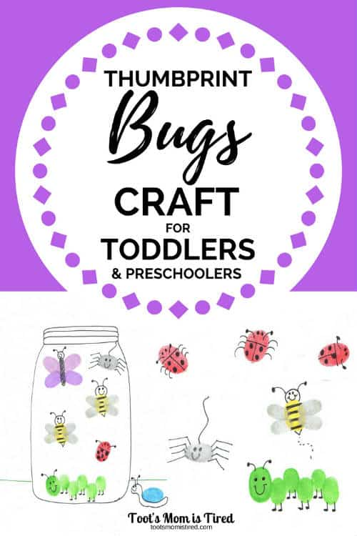 Thumbprint Bugs Craft for Toddlers and Preschoolers
