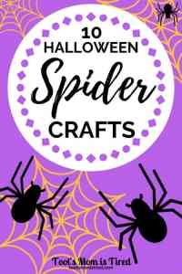 10 Halloween Spider Crafts for Toddlers and Preschoolers | Halloween crafts for kids, itsy bitsy spider crafts, two year olds, three year olds, four year olds, 2 year olds, 3 year olds, 4 year olds, #crafts #halloween #halloweencrafts #spiders #spidercrafts #toddlercrafts #preschool