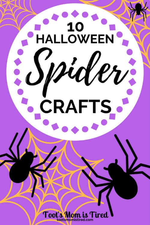 10 Halloween Spider Crafts for Toddlers and Preschoolers   Halloween crafts for kids, itsy bitsy spider crafts, two year olds, three year olds, four year olds, 2 year olds, 3 year olds, 4 year olds, #crafts #halloween #halloweencrafts #spiders #spidercrafts #toddlercrafts #preschool