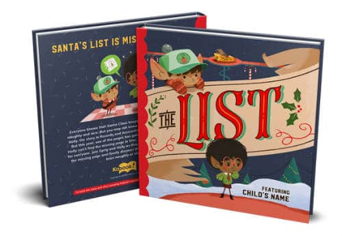 The List a Christmas customized book for kids