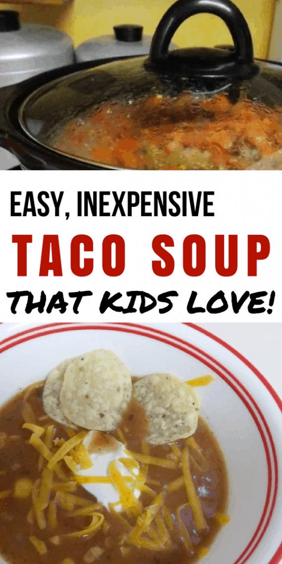 Kid Friendly Taco Soup