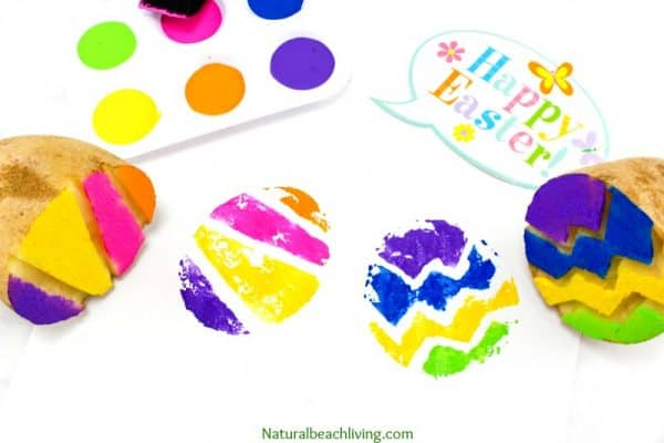 Easter Egg Potato Stamps