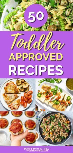 50 Toddler Approved Meal Ideas for the Whole Family | toddler approved recipes that your whole family will enjoy for lunch or dinner. Eat one meal for dinner with these recipes even your toddler will like. #mealideas #toddlerapproved #toddlers #toddlermeals #dinnerideas #recipes