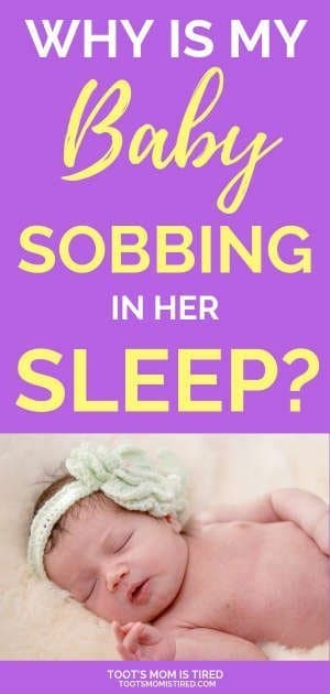 Why is My Baby Sobbing in Her Sleep? | Why is my baby gasping in her sleep? If your baby is making weird breathing sounds while sleeping, read this. #baby #newborn #babysleep