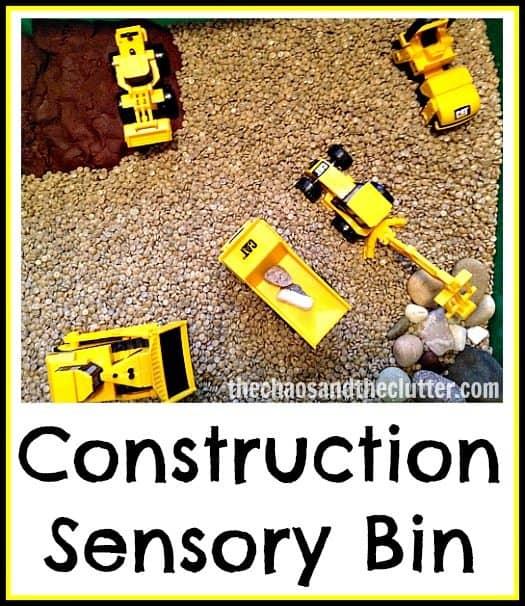 Construction Sensory Bins