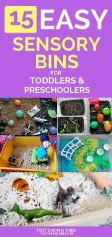 15 Easy Sensory Bin Ideas for Toddlers and Preschoolers