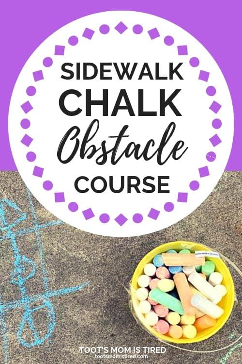 Sidewalk Chalk Obstacle Course Game for Toddlers and Preschoolers