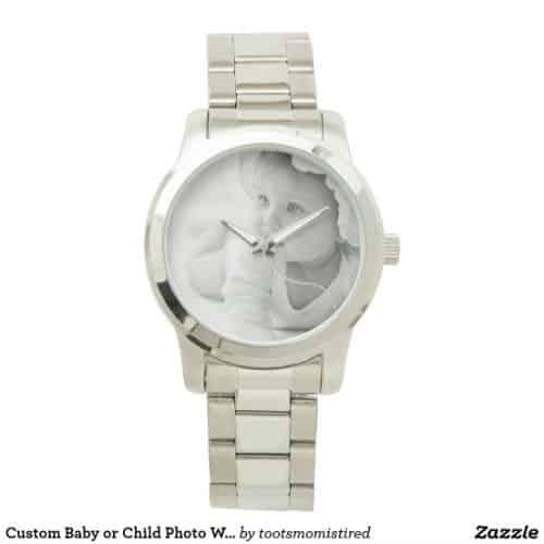 custom photo watch for grandpa