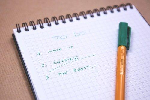 Notebook of priorities