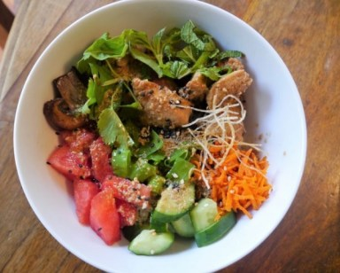 Gluten-Free Asian Watermelon Turkey Bowl