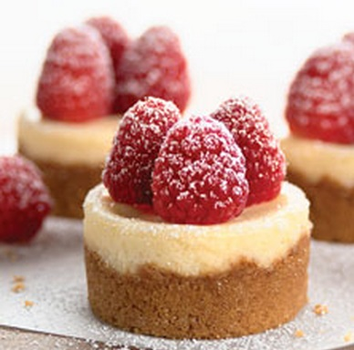 Mini Raspberry Cheesecake Bites