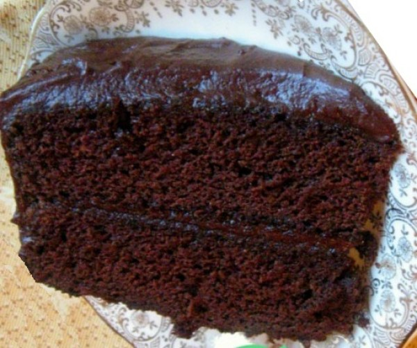 Depression Era Dark Chocolate Cake